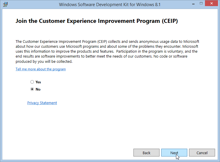 Windows 8.1 Customer Experience Improvement Program