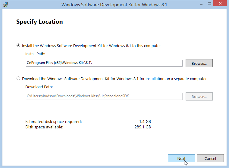 Windows 8.1 Software Development Kit